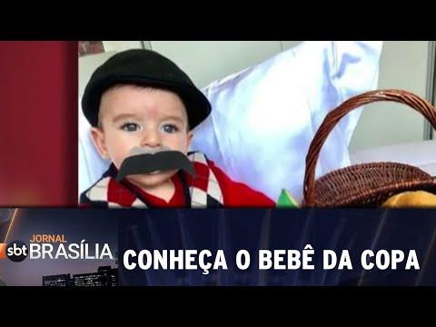 Conheça o bebê da copa | Jornal SBT Brasília 05/07/2018