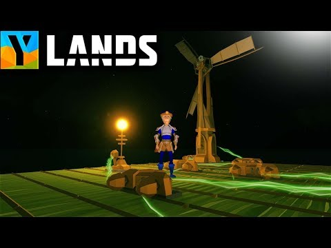 Ylands - ELECTRICITY!  WIND TURBINES, POWERED LIGHTS and LAMPS! (Ylands Gameplay Part 16)