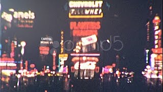 New York Times Square At Night Circa 1940 (Vintage 8Mm Home Movie Footage) 142. Stock Footage