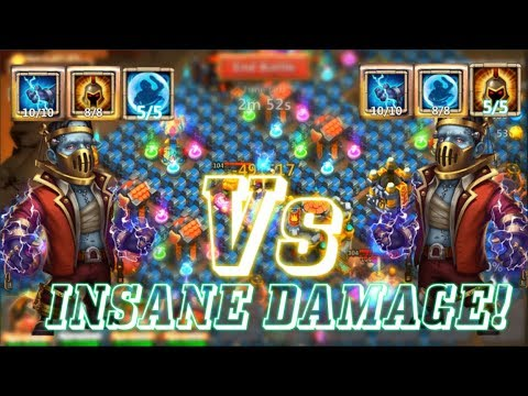 CREATION-01 WARGOD VS CREATION-01 BULWARK INSANE DAMAGE! Castle Clash