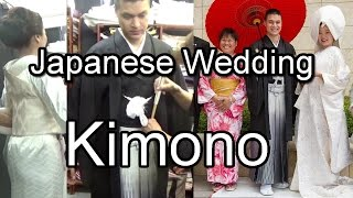 How Japanese Wedding Kimono for Bride and Groom are worn.