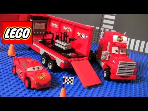 Thumbnail: Cars 2 Lego Mack's Team Truck 8486 Complete Blocks Assembly Disney Pixar Lightning McQueen
