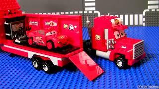Cars 2 Lego Mack's Team Truck 8486 Complete Blocks Assembly Disney Pixar Lightning McQueen
