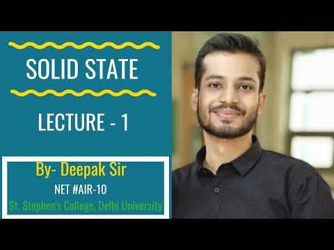Introduction - Voids And Arrangements (1D And 2D) ।।Solid State Chemistry ।।Lecture - 1
