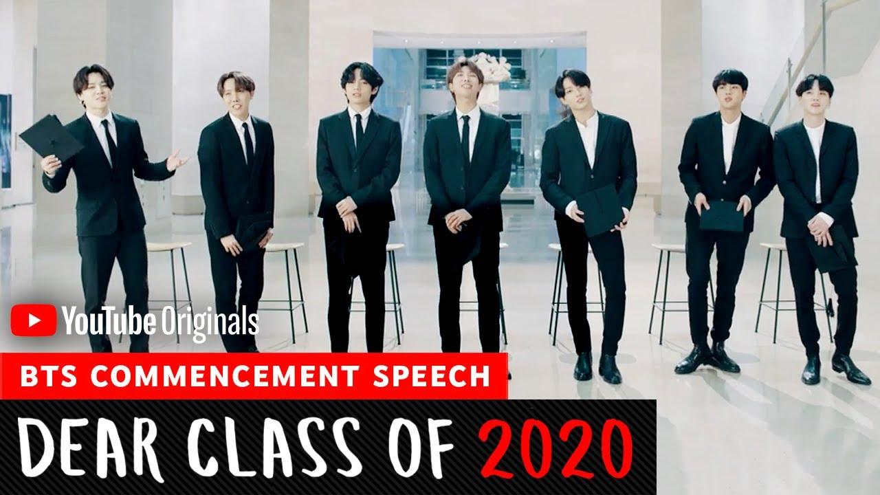 Bts Commencement Speech Dear Class Of 2020 Youtube
