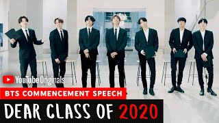 BTS Commencement Speech | Dear Class Of 2020