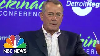 john boehner there is no republican party there is a president donald trump party nbc news