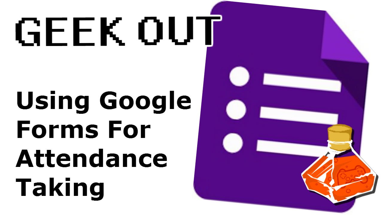 qr code attendance taking with google forms geek out youtube