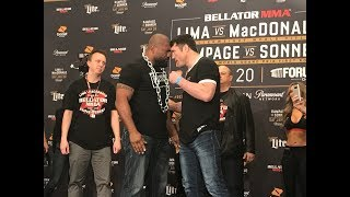 Bellator 192: Rampage Jackson vs. Chael Sonnen Weigh-In Staredown - MMA Fighting