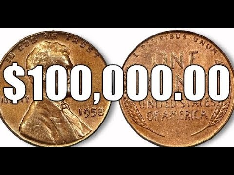 The $100,000 00 1958 Doubled Die Obverse Lincoln Cent Rare Variety Penny