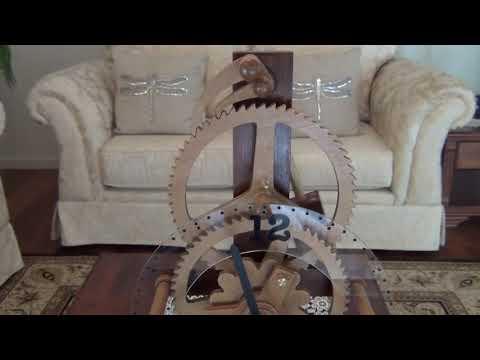 Handmade Wooden Geared Electromagnetic Clock