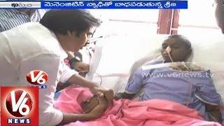 Pawan Kalyan cries after seeing terminally ill child Sreeja at Khammam