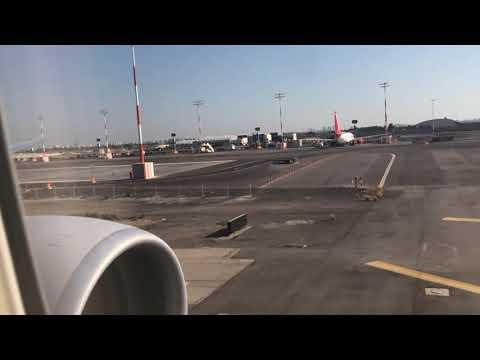 United Airlines 777-300ER Sunny Afternoon Landing At Tel Aviv Ben Gurion Airport.