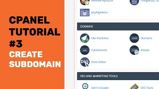 cPanel Tutorials | H๐w To Create A Subdomain In cPanel and Redirect 2020 | 4K