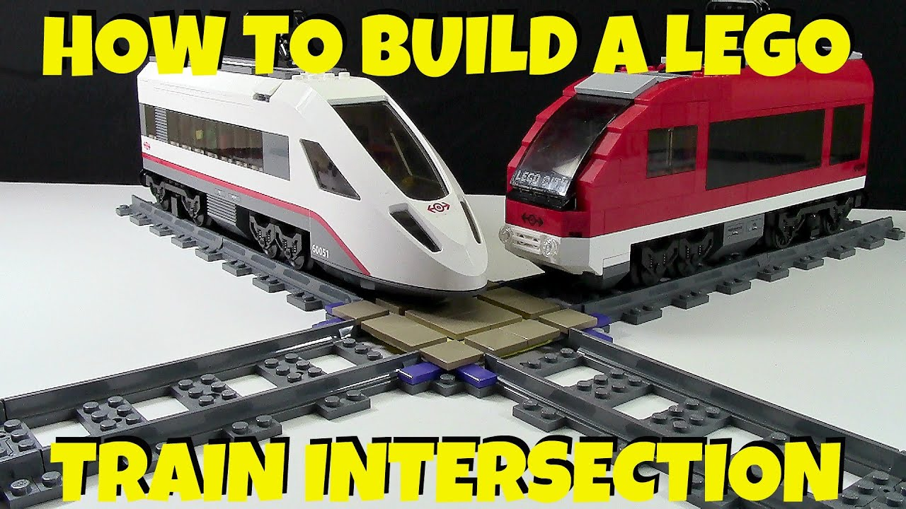 how to build a lego train intersection youtube. Black Bedroom Furniture Sets. Home Design Ideas