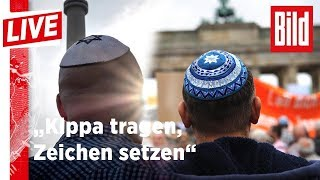 """""""Berlin trägt Kippa"""": Die Jüdische Gemeinde demonstriert in der Hauptstadt"""