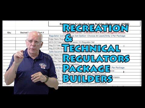 Recreational and Technical Scuba Regulators Package Builders