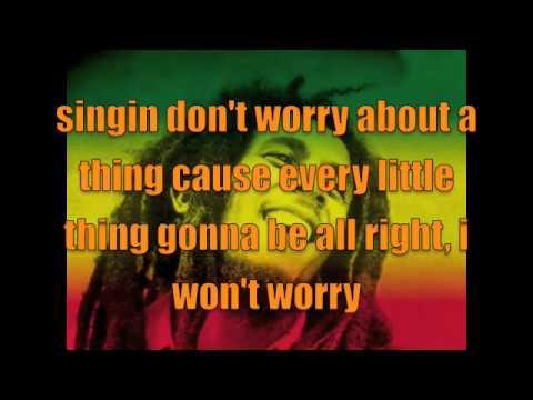 Bob Marly - Three little birds with lyrics