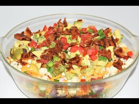 Cobb Salad Dip Recipe -Layered Cobb Salad