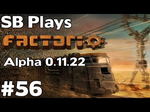 Freeing the Large Iron Deposit from Biter Control - SB Plays Factorio (0.11.22) ep56