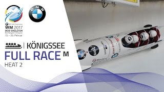 Full Race 4-Man Bobsleigh Heat 2 | KÖnigssee | BMW IBSF World Championships 2017