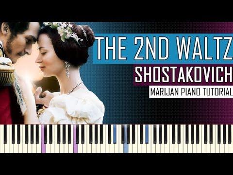 How To Play: The Second Waltz (Dmitri Shostakovich) | Piano Tutorial +  Sheets