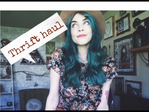 Thrift Haul (Try on)  | Vintage finds with haunted past?!