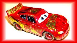 Pixar Cars Muddy Rusteze Racing Center Lightning McQueen Rare Collector Car Unboxing
