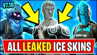 *ALL* Fortnite v7.10 ICE/WINTER SKINS LEAKED | ICE RED KNIGHT, LOVE RANGER & RAVEN (Fortnite Update)