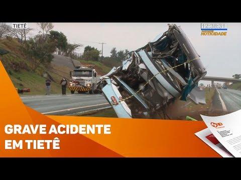 Grave acidente com ônibus em Tietê - TV SOROCABA/SBT