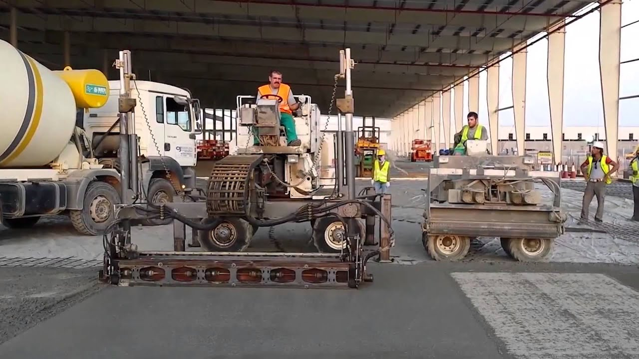 Hac Laser Screed Industrial Concrete Floor Youtube