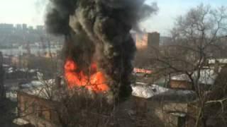 урок биологии!! пожар рядом с ул. ковальчука 6\1