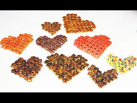 Сердечко в стиле Pixel Art (узор китайский крестик).
