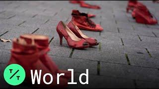 Red Shoe Exhibit Symbolizes Wo…
