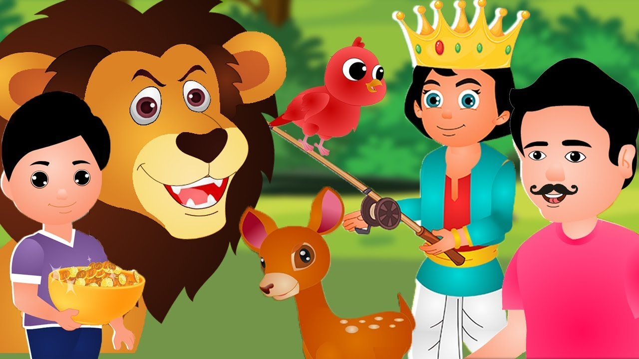 Hindi Panchatantra Moral Kahaniya for Kids - Children's Popular Hindi Nursery Rhyme