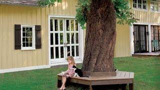 Как сделать круглую скамейку вокруг дерева