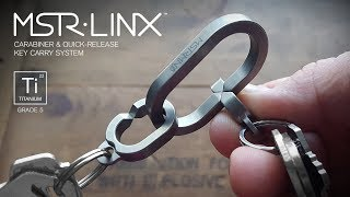 MSTR LINX(TM) (Master Links) - Titanium Carabiner &amp Quick-Release Key Carry System