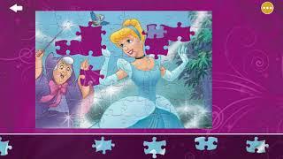Пазлы по мультфильмам Дисней: Головоломка, Золушка, Ариэль, Белоснежка. Мультфильм-игра для детей.