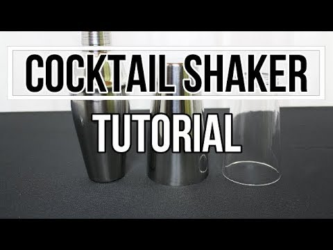 Cocktail Shaker richtig benutzen, Boston Shaker öffnen, Cocktail Shaker Tutorial. Cocktails shaken