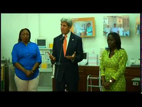 Secretary Kerry Delivers Remarks at a Pharmacy Supported by Micro-Finance