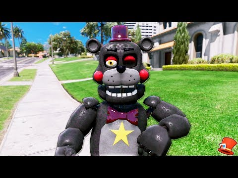 NEW LEFTY FNAF 6 ANIMATRONIC! (GTA 5 Mods For Kids FNAF RedHatter)