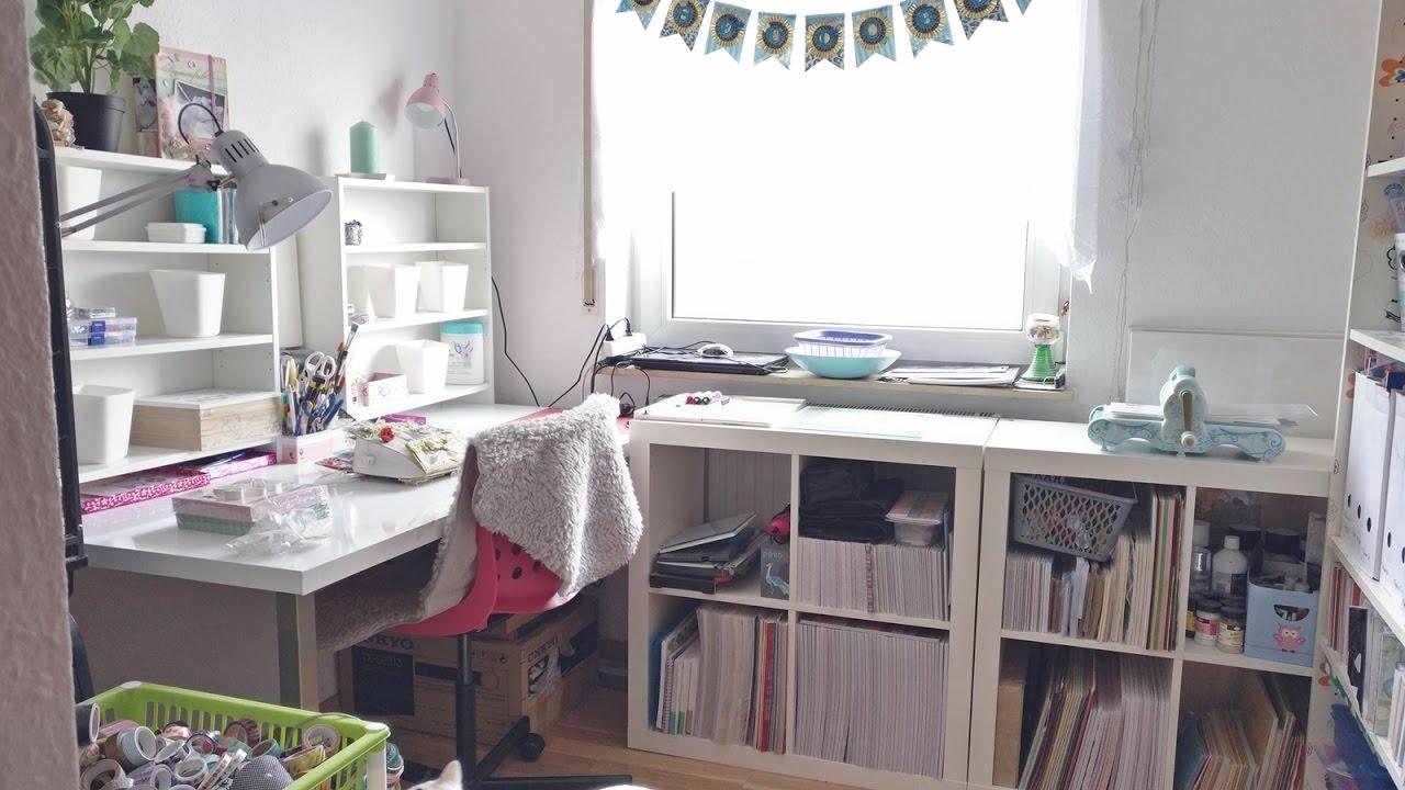 mein neues bastelzimmer craftroom makeover youtube. Black Bedroom Furniture Sets. Home Design Ideas