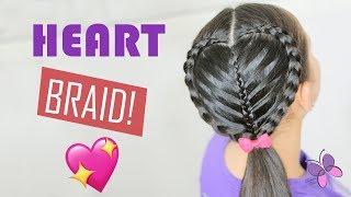 Braided Heart Hairstyle for Girls | Heart Braid | Braids Hairstyles 2019 | Valentine's Day