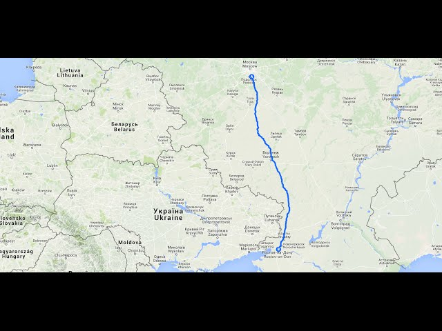Driving M4 from Domodedovo  to Rostov-on-Don (Russia)