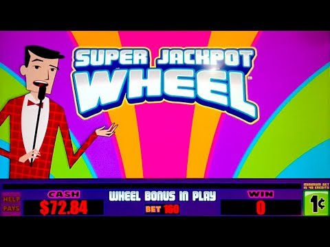 Super Jackpot Wheel Slot - NICE SESSION, ALL FEATURES! - 동영상