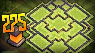 NOVO LAYOUT DE FARM CENTRO DE VILA 10 - 275 MUROS - CLASH OF CLANS
