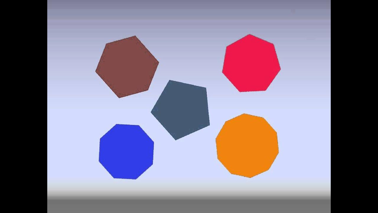 Octogon House Geometric Shapes 2 Square Circle Rectangle Triangle