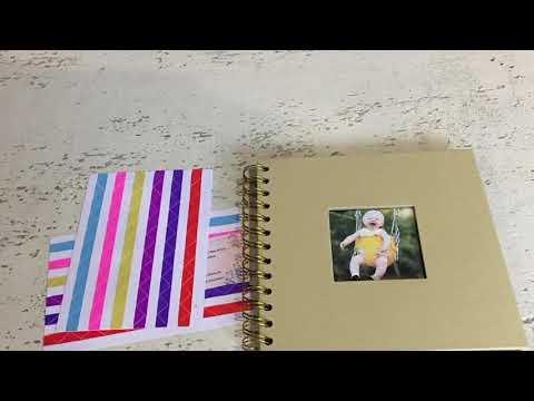 Scrapbook Photo Album with Black Paper Pages