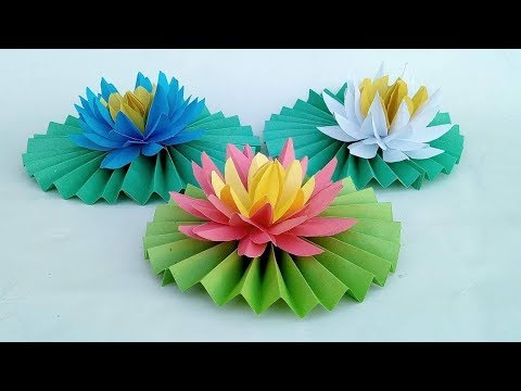 How to Make Most Beautiful Origami Lotus- Water Lily With Paper | Mr.Paper crafts