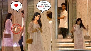 Sridevi's Daughter Jhanvi Kapoor FIGHTS With Boyfriend Ishaan Khattar (Shahid's Brother) In Public